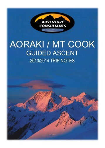 Aoraki / Mt Cook is an impressive and massive peak with five sides ...