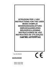 ISTRUZIONI PER L'USO INSTRUCTIONS FOR THE USER MODE D ...
