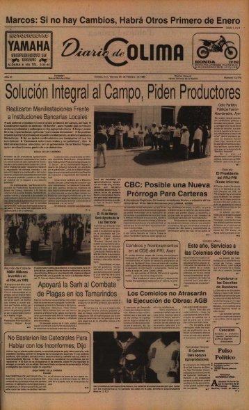 Solución Integral al Campo, Piden Productores - Universidad de ...