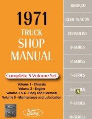 DEMO - 1971 Ford Truck Shop Manual - ForelPublishing.com