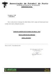 regulamento torneio aberto futebol praia - Associação de Futebol do ...