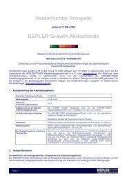 KEPLER Growth Aktienfonds VVKP 15.11.08 - boerse-live.at