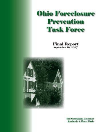 Ohio Foreclosure Prevention Task Force - Ohio Housing Finance ...