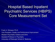 Hospital Based Inpatient Psychiatric Services (HBIPS) - Institute of ...