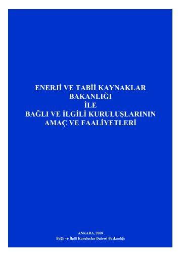 Mavi Kitap 2008 - Enerji ve Tabii Kaynaklar Bakanlığı