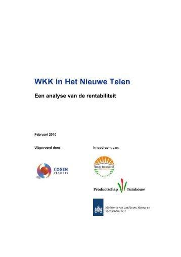 WKK in Het Nieuwe Telen - Energiek2020