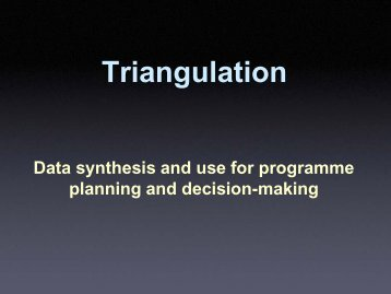Overview of the triangulation process - Global Health Sciences