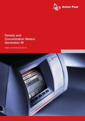 Density and Concentration Meters Generation M - MEP Instruments