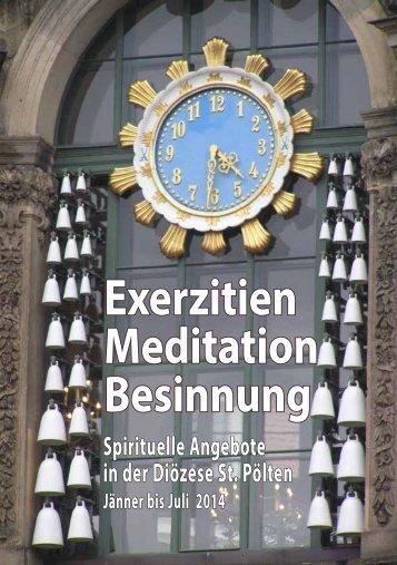 Besinnungs - Exerzitien und Geistliche Begleitung - Diözese St. Pölten