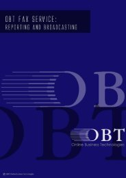 OBT Fax Service - Reporting and Braodcasting small - OBTs