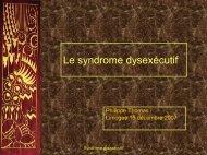 Syndrome dysexécutif 15 12 2007 - Centre hospitalier Esquirol