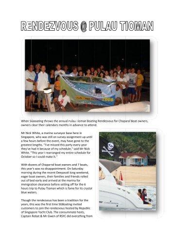 When SG owners Mr Nick Singapo a few ho greatest ... - SGBoating