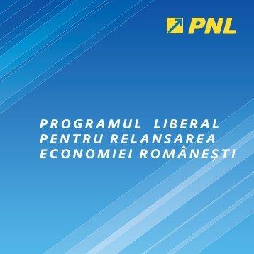 programul liberal pentru relansarea economiei române ş ti