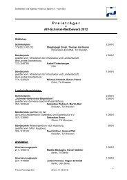 Preisträger des AIV-Schinkel-Wettbewerb 2012 - Architekten- und ...