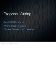 Proposal Writing - Student Development Services