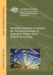 Insulation solutions to enhance the thermal resistance of suspended ...