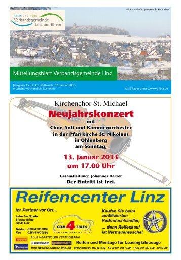 Ausgabe Nr. 1 vom 02.01.2013 - Verbandsgemeindeverwaltung ...