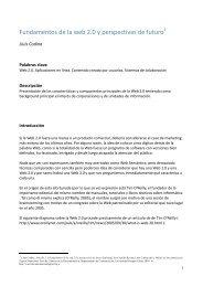 Fundamentos de la web 2.0 y perspectivas de futuro - Lluís Codina