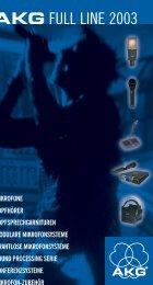 AKG Katalog 2003 - bei mäser digital media