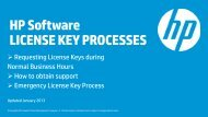 Licensing & Support guide (.PDF) - HP