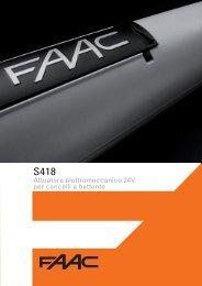 Attuatore elettromeccanico 24V per cancelli a battente - Faac