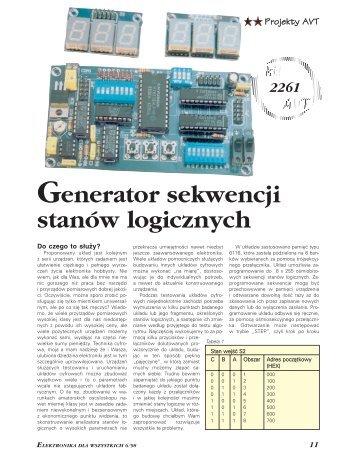 Generator sekwencji stanów logicznych (564KB) - Elportal