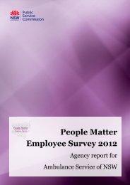 People Matter Employee Survey 2012 - Ambulance Service of NSW ...