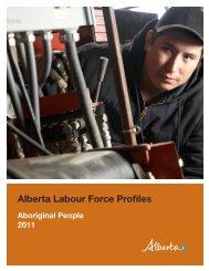 Alberta Labour Force Profiles, Aboriginal People 2011