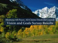 APACD Council Survey Results - Montana - State Auditor and ...