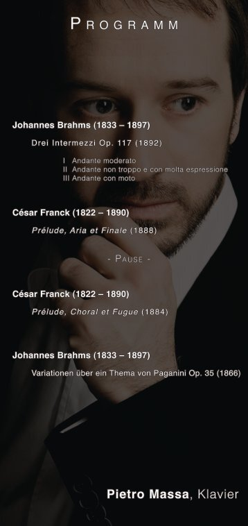 Pietro Massa, Klavier