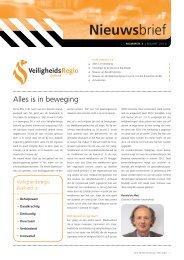 Nieuwsbrief 3 Veiligheidsregio Zeeland - maart 2012
