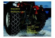 Ketten Winterdienst Preisliste 2011 - ForesTree Austria. A-1200 Wien