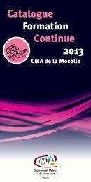 Catalogue Formation Continue 2013 - Chambre de métiers de la ...