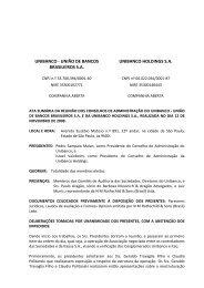 UNIBANCO - UNIÃO DE BANCOS BRASILEIROS S - Banco Itaú