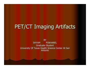 PET/CT Imaging Artifacts