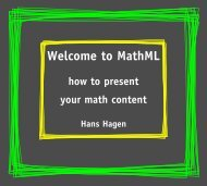 Welcome to MathML