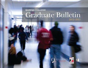 2012-2013 Graduate Bulletin - Queens College - CUNY
