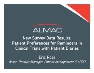 New Survey Data Results: Patient Preferences for ... - Almac