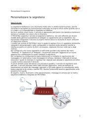 Box - Personalizzare la segreteria - Assistenza Tecnica 187 Alice ...