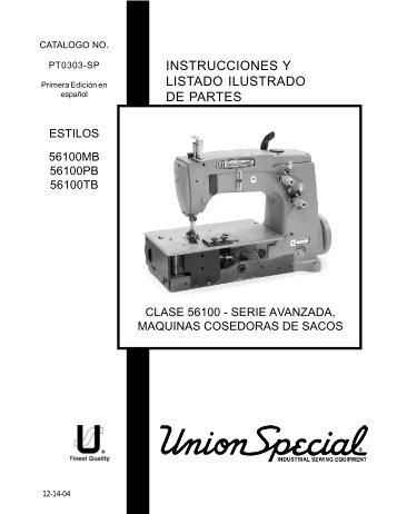 instrucciones y listado ilustrado de partes - Universal Sewing Supply