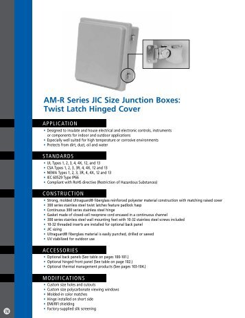 Twist Latch Hinged Cover - Solutions Direct