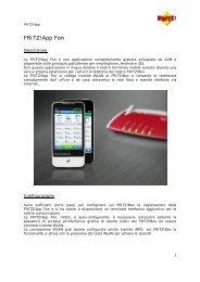 FRITZ!App Fon - Assistenza Tecnica 187 Alice Telecom Italia