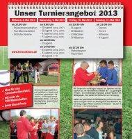 Unser Turnierangebot 2013 - BV Bockhorn