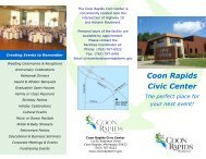 Rental Brochure - City of Coon Rapids Minnesota