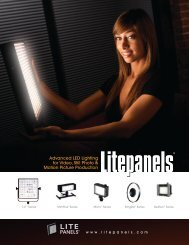 Advanced LED Lighting for Video, Still Photo & Motion ... - Manios