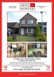 Price Guide: £135000 NO CHAIN 3 Temple Close ... - Grice & Hunter