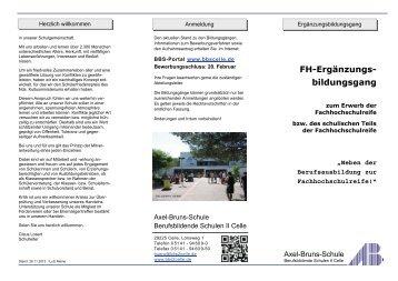 Ergänzungsbildungsgang zum Erwerb der - BBS-Portal