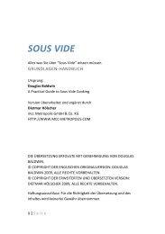 Sous-Vide - MCC Metropolis GmbH & Co.KG