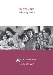 FACTSHEET - Axis Mutual Fund
