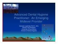 Advanced Dental Hygiene Practitioner: An Emerging Midlevel Provider